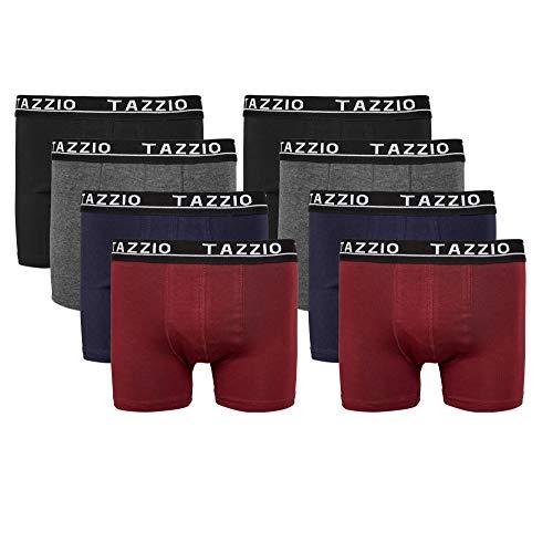 Tazzio Boxershorts Men Herren 8er Pack Unterwäsche Unterhosen Männer Retroshorts (Aktion Preis) (L, Mix Farben (8er Set))
