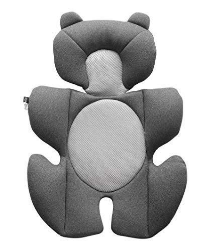 Storchenbeck Babyautositz kissen Autositz-Einsatz Sitzauflagen Universal für Kinderwagen Autositz Hochstuh (Grau)