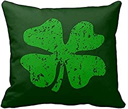 FFJPL Green Shamrock Clover St Patricks Day Throw Pillow Case Decorative Throw Pillow Case with Zip Home Decor for Couch 18x18 inch