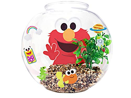Penn-Plax Officially Licensed Sesame Street Elmo's World Fish Bowl Kit – Great Way to Teach Young Beginners How to Maintain and Take Care of an Aquarium