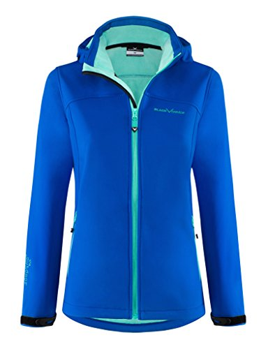 Black Crevice Damen Softshelljacke, blau/grün, Gr. 40