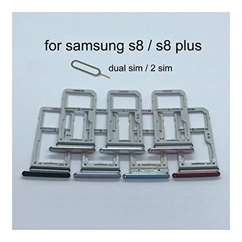 JLZK Buen Estado Sostenedor de la Ranura Bandeja de Tarjeta SD Adaptador Doble Tarjeta SIM For Samsung Galaxy S8 Plus G950 G955 G950F G955F Original de la Cubierta del teléfono Nuevo Micro Tarjetas.