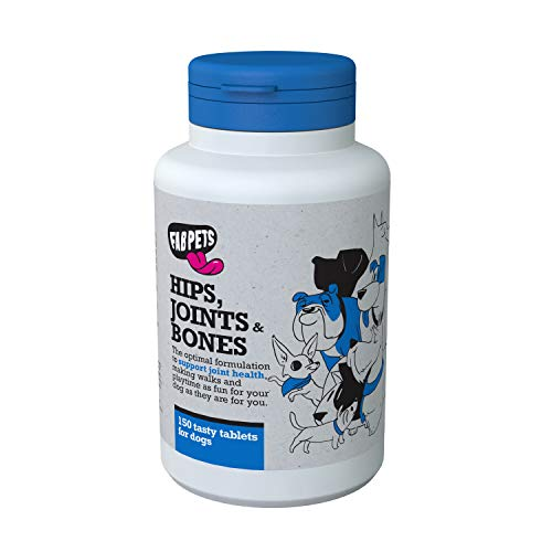 Premium Hip and Joint Care Supplement for Dogs | 5 Active Ingredients: Glucosamine, Chondroitin, MSM, L-Proline, L-Arginine | Increase Collagen & Boost Mobility | 150 Delicious Tablets
