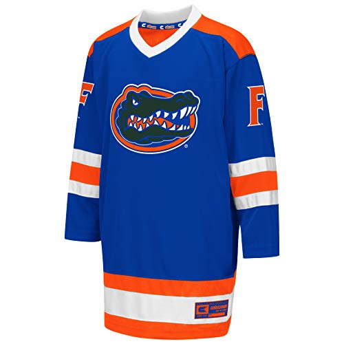 Colosseum NCAA Youth Boys Athletic Machine Hockey Sweater Jersey-Florida Gators-Youth Large