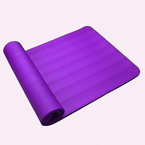 WZHIJUN Yogamatte 30mm Super Dick Welligkeit rutschfest Fitness-Matte Sportmattengurte Und Rucksäcke (Color : Purple, Size : 183×80×3cm)