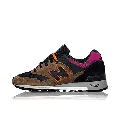 New Balance 577 Made in England M577KPO Made Trail Black Khaki Pink (US 10.5 - Khaki)