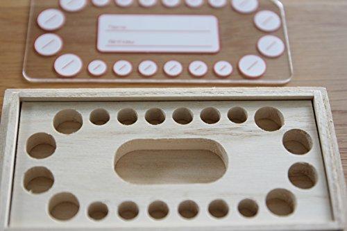スワロフスキー付き乳歯ケース長方形クラウン:ゴールド
