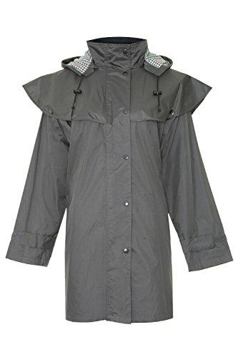 Champion Windsor Dreiviertellängige Wasserfesten Mantel mit Abnehmbare Kaputze für Damen (Oliv-Grün) 46