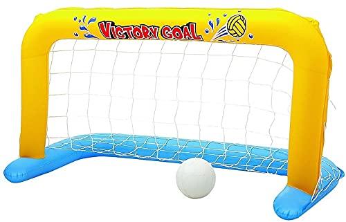 Jouets Cage de Water Polo Bleu et Jaune 137 x 66 cm avec Ballon - Jeu Plein Aire Enfant - But...