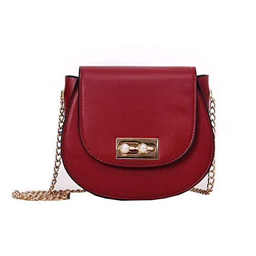 Erfhj Retro lederen dames tas mini parel tas contrast schoudertas Messenger tas vrouwelijke designer clutch tas
