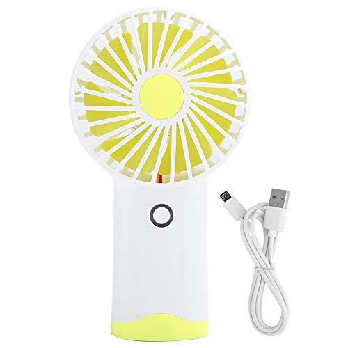 Wosume Ventilador más Fresco, portátil, Conveniente, Recargable, Duradero, Enfriador de Verano Oficina en casa(Yellow)