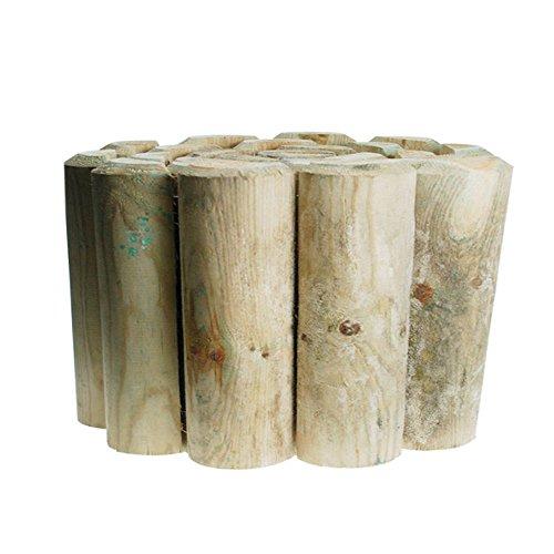 Kingfisher LOG1 Log Roll Garden Edging, 15 cm/6 inch, Transparent, 2.7x180x15.2 cm