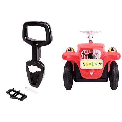 BIG 800056445 - Bobby Car Walker 2-in-1 Zubehör Lauflernhilfe, Rückenlehne & BIG-Bobby-Car Mein Nummernschild