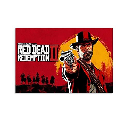 ASDFWQW Fondo de Pantalla De Red Dead Redemption 2 - Póster artístico de pared - Impresión moderna - Póster - 30 x 45 cm