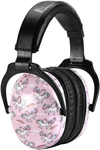 Kinderen gehoorbescherming van ZOHAN, inklapbaar verstelbare geluidsbescherming hoofdtelefoon voor kinderen, NRR 22dB, SNR 27dB, MEHRWEG Einheitsgröße eenhoorn