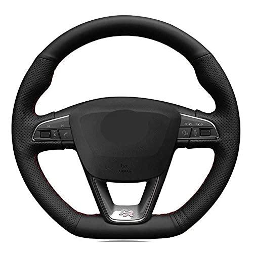 SAXTZDS Housse de Volant Noir pour Voiture, Convient pour Seat Leon Cupra Leon St Cupra Leon St Cupra Ateca Cupra Ateca FR