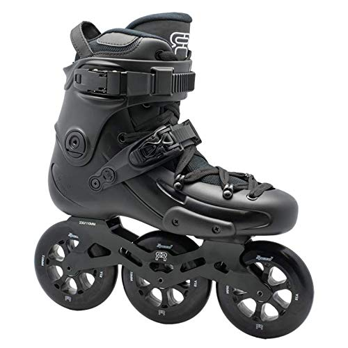 FR Skates FR1 310 Black 2019-3 Rollrahmen und 110 mm Rollen Inlineskates für Freeride, Slalom, City Skating...