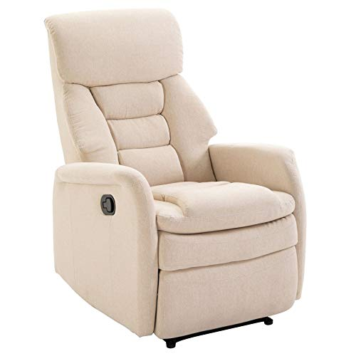 IDIMEX Fernsehsessel RELAJO, Relaxsessel Liegesessel TV Sessel Relaxstuhl Entspannungssessel, mit Stoffbezug in beige