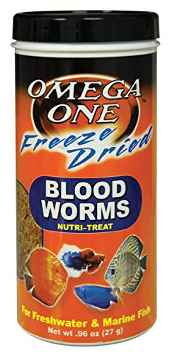 OMEGA One Freeze Dried Bloodworm .96oz, Yellow