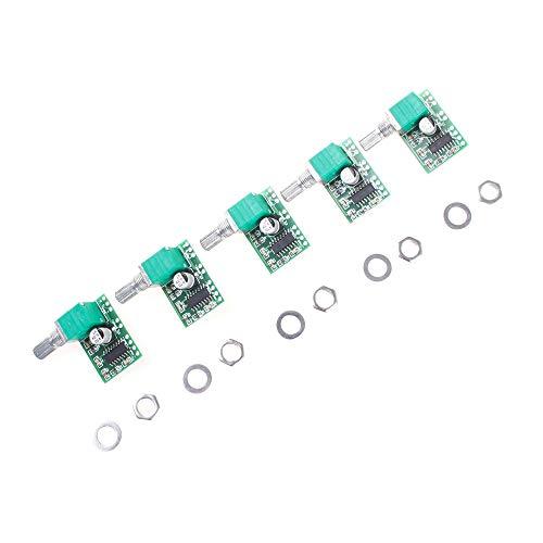 5 Stück ANGEEK Mini PAM8403 Stereo Verstärker 5V 3W+3W Handy Digital Power Amp Modul