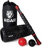 Roar Foam Roller Masaje Kit, Rodillo Masaje Muscular Pack, Foam Roll Terapia, Roller Foam, Rulo Masaje Muscular, Rodillo Espuma Masajeador, Lacrosse Ball Y Bola Masaje con Palo Masajeador, Pilates.