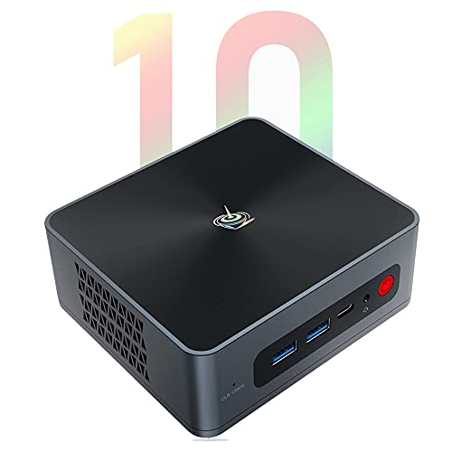 Beelink SEi10 Mini PC Mini Ordenador de Sobremesa con Intel 10th Gen i3-10110U (Turbo 4.1Ghz), 8G DDR4 + 256GB NVMe PCIe M.2 2280 SSD, WiFi 5, 1000Mbps, Dual HDMI, BT 5.0, Type-C, Windows 10