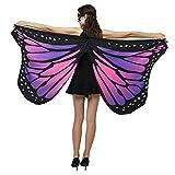 Andouy Frauen Schmetterlingsflügel Schals Flügel Tuch Umhang Damen Nymphe Pixie Poncho Kostümzubehör