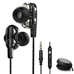 pTron Boom3 Ultima 4D Dual Driver in-Ear Wired Headphones with Mic - (Black and Silver),Palred Technology Shenzen Co Ltd,Boom3 Ultima,earphones,earphones akg,earphones apple,earphones boats,earphones of mi,earphones philips,earphones samsung,earphones skullcandy,earphones with mic,headphones,headset
