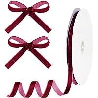 ALEXCRAFT 25 Yards Velvet Ribbon (0.39