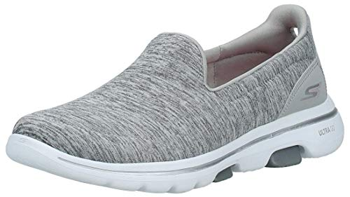 Skechers Women's GO Walk 5 - Honor Shoe, Gray, 9 M US