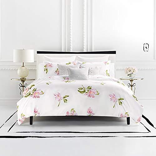 Kate Spade New York Breezy Magnolia Comforter Set, King, White/Pink