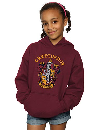 Harry Potter Fille Gryffindor Crest Sweat À Capuche Bourgogne 7-8 Years