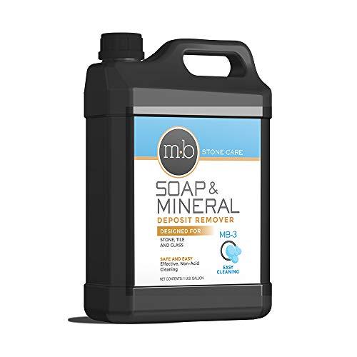 MB Stone Care - MB-3 Soap, Mineral Deposit & Grout Film Remover (1 Gallon / 128 fl oz) (for Cleaning Concrete, Granite, Marble, Limestone, Travertine, Quartzite, Serpentine & Terrazzo)