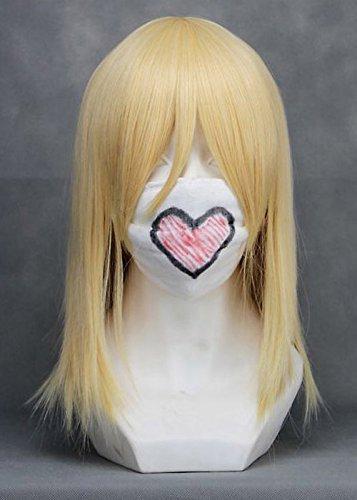 JapanAttitude Perruque Blonde mi-Longue 40cm, Cosplay Lambdadelta
