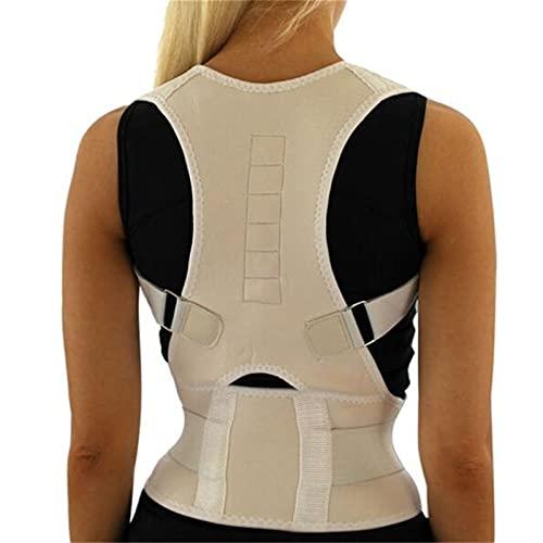 FGHD Corrector Postura Back-Support Vendaje Hombro Corsé Atrás Soporte Postura Corrección Cinturón 709 (Color : White, Size : S)