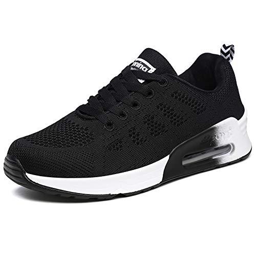 Zapatillas de Deportivos de Running para Mujer Ejercicio Físico Negro 36 EU