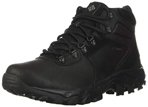 Columbia mens Newton Ridge Plus Ii Waterproof Hiking Boot, Black/Black, 9.5 US