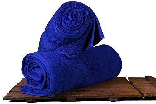 KKGASSAB Toallas de baño Suaves y cómodas Toalla de Toalla Toallas 100% orgánico de algodón Natural de algodón para Adultos. (Color : Navy Royal, Size : 100x180)