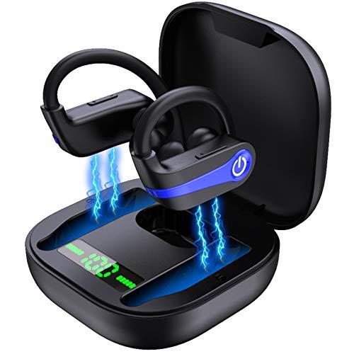 Motast Bluetooth 5.0 Kopfhörer IP7 Wasserdicht Sport Ohrhörer Kabellos In Ear 40 Stunden Spielzeit HiFi Headset Bluetooth mit Ladebox und Mikrofon Automatische Koppelung, für Sport, Riding, Running