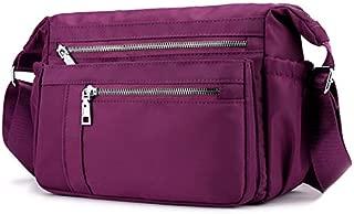 TOOGOO Women'S Shoulder Diagonal Bag Outdoor Travel Bag Large Capacity Waterproof Nylon Handbag Black