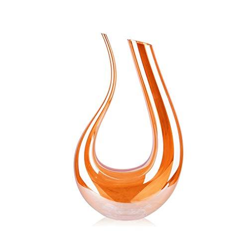 Carafe de vin rouge en cristal sans plomb Home Tuhao Gold Refroidisseur de vin en verre européenne verre à vin verseur JXLBB