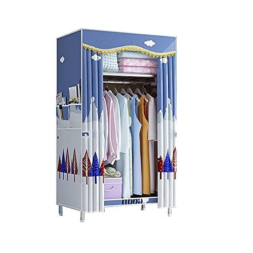 LJWLZFVT Armario de Tela Armario Armario portátil Bolsa de Almacenamiento Armario de Zapatos con a Prueba de Polvo y Lavable(Size:82X45X170cm,Color:C)