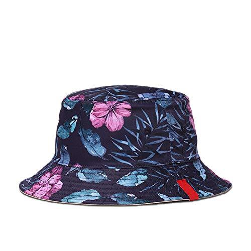 Fablcrew Chapeau Bob Pêcheur en Coton Motif de Fleur pour Soleil Plage Camping Randonnée
