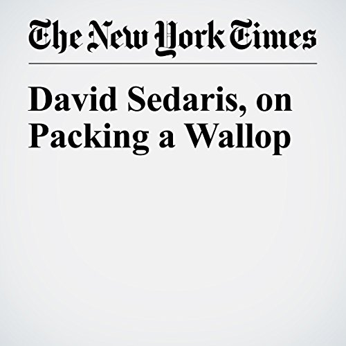 David Sedaris, on Packing a Wallop audiobook cover art