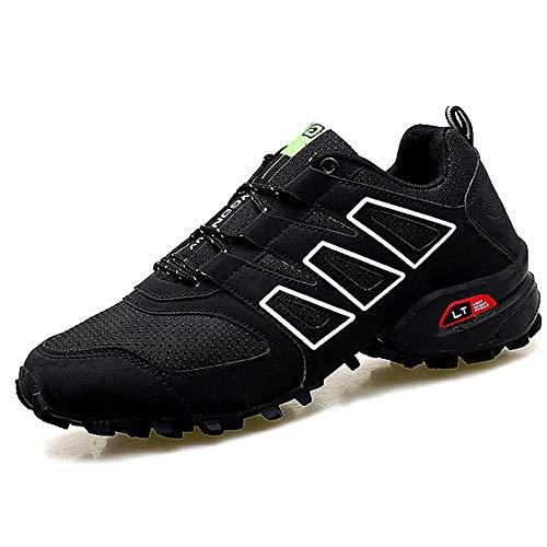 MERRYHE Chaussures De Randonnée pour Hommes Chaussures à Lacets Mode Escalade Chaussures De Sport en Plein Air Chaussures De Sport en Plein Air Chaussures De Randonnée,Black-45