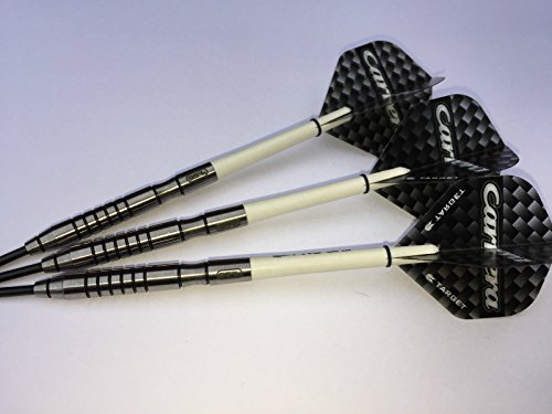 Tungsten Dart Sets 23 g Nodor 95% Wolfram Darts Set, Pro Grip Stems & Schwarz Carrera Flights