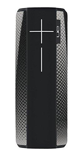 Ultimate Ears Megaboom Tragbarer Bluetooth-Lautsprecher, Satter Tiefer Bass, Wasserdicht, App-Navigation, Kann mit weiteren Lautsprechern verbunden werden, 20-Stunden Akkulaufzeit - cityscape/schwarz