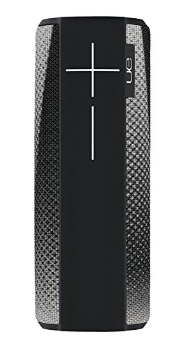 Ultimate Ears Megaboom Tragbarer Bluetooth-Lautsprecher, Satter Tiefer Bass, Wasserdicht, App-Navigation, Kann mit weiteren Lautsprechern verbunden werden, 20-Stunden Akkulaufzeit - cityscape/schwarz