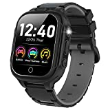 Kids Smart Watch for Boys Girls- HD Touch Screen Watches for Kids with 14 Games Dual Cameras Music Player Video Recorder Pedometer Flashlight Children Learning Toys Birthday Gifts for Age 4-12(Black)