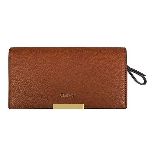 Gabor Damen Lora Long zip wallet, Cognac, S